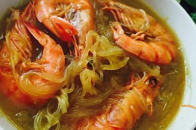 咖喱粉丝大虾