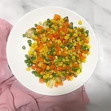玉米胡萝卜青豆炒百合
