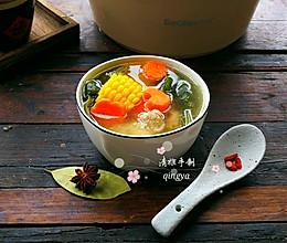 排骨玉米海带汤的做法