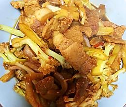 肉片炒菜花的做法