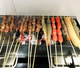 家庭烧烤 烤炉羊肉串的做法