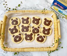 """#2021亲子烘焙组——""""焙""""感幸福#小熊曲奇饼干的做法"""