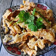 五香干炸鲜蘑