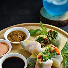 #夏日开胃餐#脆爽鲜虾煮蛋时蔬春卷