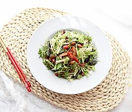 #助力高考营养餐#苦菊拌皮蛋的做法