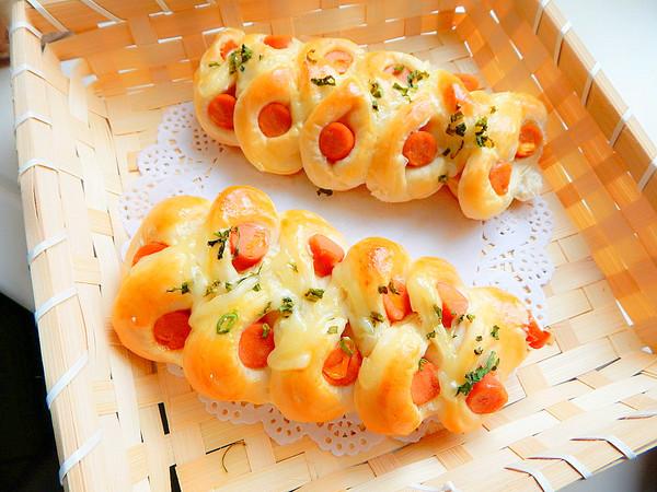 玉米火腿面包的做法