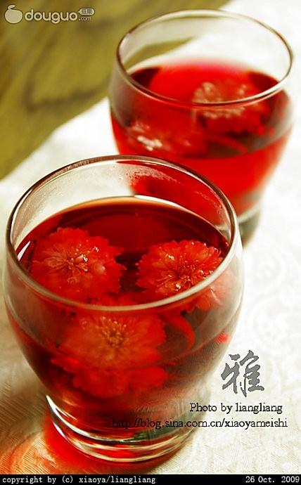 菊花洛神茶的做法