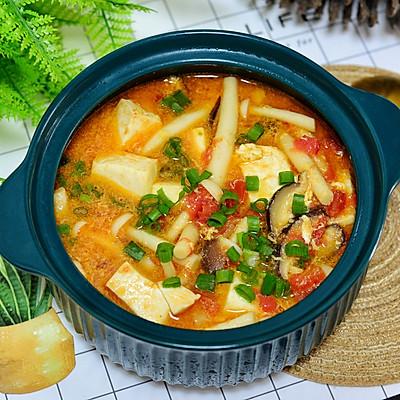番茄菌菇豆腐汤,减脂人士必备