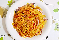 西红柿洋葱土豆丝炒饼的做法