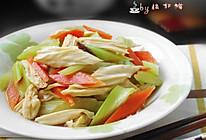 西芹拌腐竹的做法