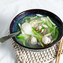 青蒜蛤蜊汤年糕--超简易