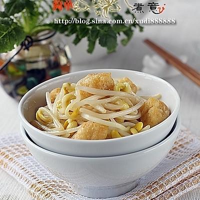 油豆腐炒豆芽