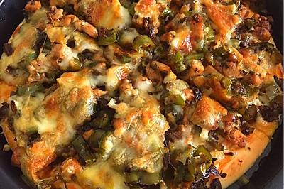 鸡米芽菜披萨