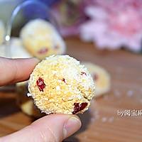 蔓越莓椰蓉球#莓汁莓味#的做法图解10