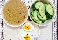 【健身早餐】红枣小米粥+糖心蛋+黄瓜的做法