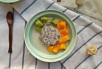 椰汁紫米牛奶冻的做法