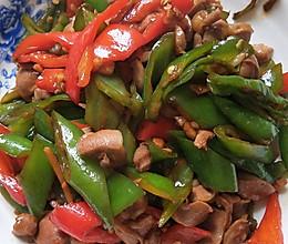 辣椒炒鸡肾的做法