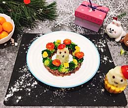 #令人羡慕的圣诞大餐#圣诞老人和花环的做法