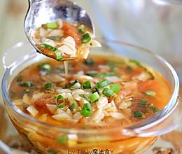 西红柿油菜面片汤#花10分钟,做一道菜!#的做法