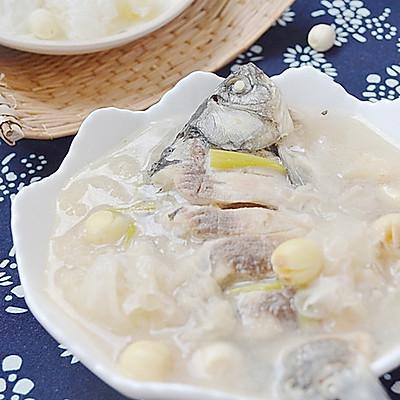 初秋养胃汤——银耳莲子鲫鱼汤