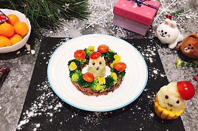 圣誕老人和花環