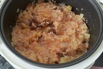 番茄洋葱土豆香肠饭