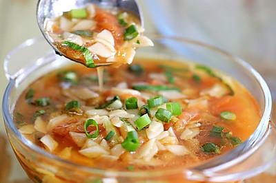 西红柿油菜面片汤#花10分钟,做一道菜!#