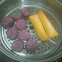 椰汁双色芋圆的做法图解1