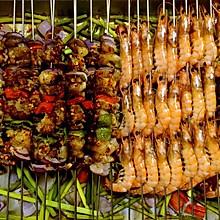 家常烧烤大餐烤肉串烤虾 养老公不重样