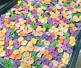 彩色蝴蝶面的做法