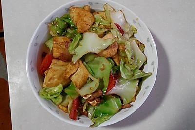 干锅包菜素鸡