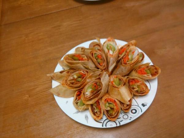 香香干豆腐卷的做法