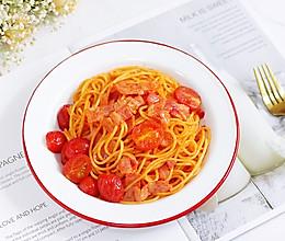#硬核菜谱制作人#番茄培根意面的做法