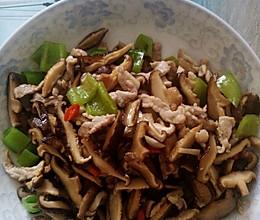 干香菇炒肉的做法