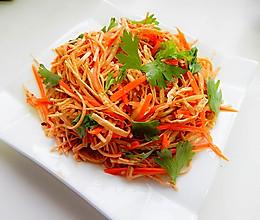 胡萝卜凉拌云丝的做法