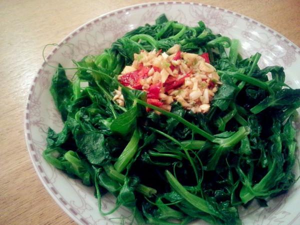 呛拌豌豆尖——附万能凉菜汁调法的做法