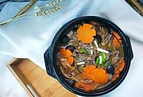 黄花菜滑牛煲的做法