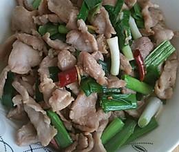 蒜苗炒肉片的做法