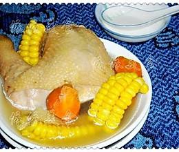 老母鸡玉米汤的做法