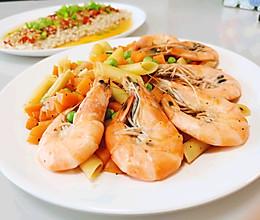 好吃的减脂餐~黑胡椒大虾通心粉的做法