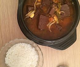韩式猪血汤的做法