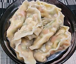 软嫩流汁的鸡肉时蔬水饺的做法