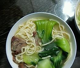 熟牛肉做汤面的做法