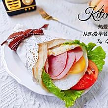 #丘比三明治#十分钟早餐--豪华版手抓饼