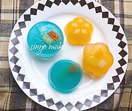 橙子VS蓝莓钵仔糕的做法