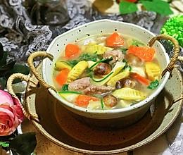 #春季食材大比拼#姬松茸春笋肉片汤的做法