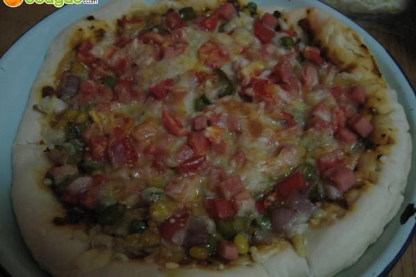 微波炉自制披萨的做法