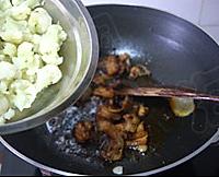 五花肉炒菜花的做法图解8