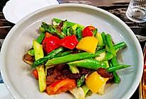 腊肉炒芦笋的做法