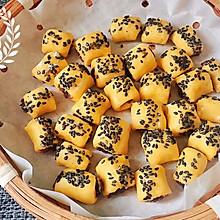 香甜脆软的南瓜红豆一口脆#美食新势力#
